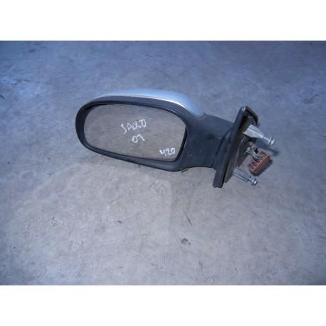 Espelho Retrovisor Citroen Saxo Esquerdo Cinza